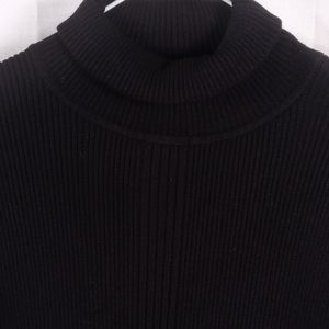 French Dressing black ribbed turtleneck M 6146